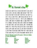 St Patrick's Day Word Search and Scramble