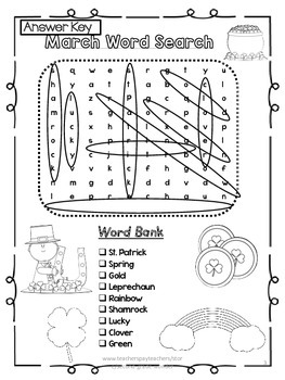 St. Patrick's Day Word Search 2 Levels
