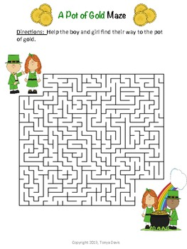 St. Patrick's Day Word Search & Maze