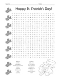 St. Patrick's Day Word Search / Middle School