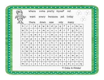 St. Patrick's Day Word Searches
