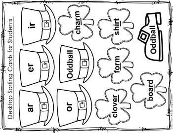 St. Patrick's Day Word Work r controlled vowels ELA 3-5