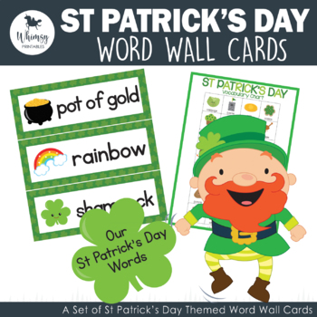St Patrick's Day Word Wall Cards - 28 words