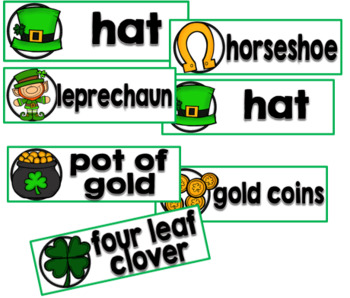 St. Patrick's Day Word Wall Cards Set