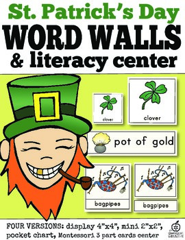St. Patrick's Day Word Wall and Literacy Center