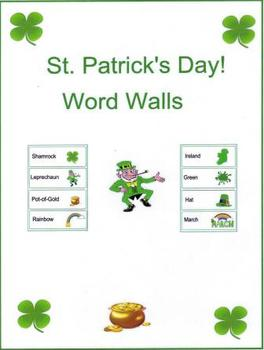 St. Patrick's Day Word Walls