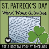 St. Patrick's Day Word Work & Literacy Activity Packet
