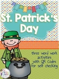 St. Patrick's Day Word Work: Three Grammar Centers for March