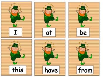 St. Patricks Day Word Work for Kindergarten Common Core Aligned