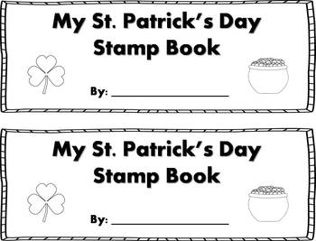 St. Patrick's Day Words Stamp Book