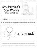St. Patrick's Day Words Trace & Write Book