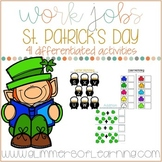 St. Patrick's Day Work Jobs and/or Cookie Tray Activities