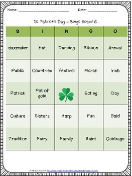 St. Patrick's Day Worksheets