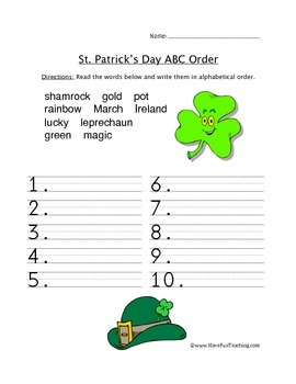 St. Patrick's Day Worksheets and Coloring Pages Pack