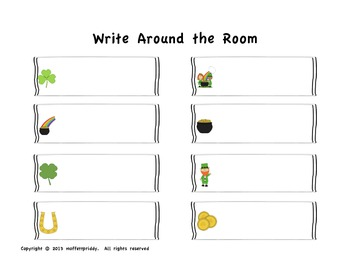 St. Patrick's Day Write Around the Room