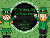 St Patrick's Day Write the Room