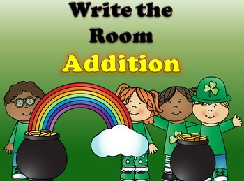 St. Patrick's Day Write the Room (Double Digit Addition)