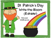 St. Patrick's Day Write-the-Room {Editable!}