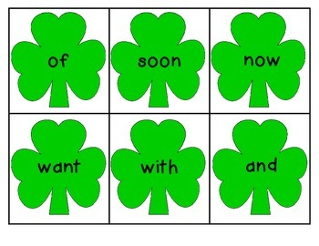 St. Patrick's Day Write the Room - Kinder Sight Words