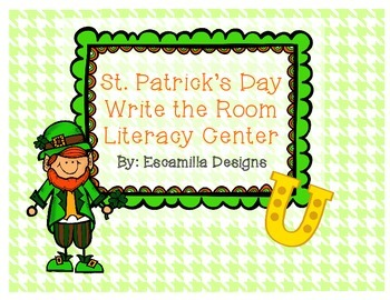 St. Patrick's Day Write the Room Literacy Center