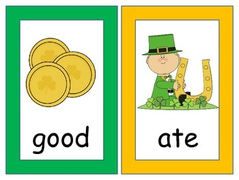 St. Patrick's Day Write the Room (goes with kindergarten Journey's sight words)
