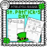 St. Patrick's Day Writing {Four-eyes Freebie}