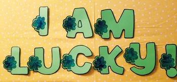 "St. Patrick's Day Writing Craft With Bulletin Board Letters, ""I AM LUCKY!"""