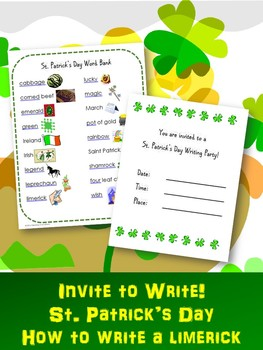 "St. Patrick's Day Writing Activity:  ""Invite to Write"" a Limerick!"