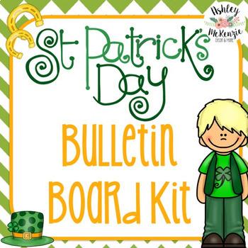 St Patrick S Day Themed March Bulletin Board Kit By Ashley Mckenzie