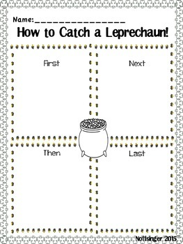 St. Patrick's Day Writing Graphic Organizer: How to Catch a Leprechaun!