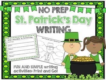 St. Patrick's Day Writing NO PREP