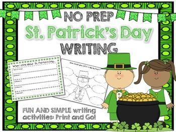 St. Patrick's Day Writing NO PREP