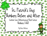 St. Patrick's Day Writing Numbers Before and After Differentiated Math Center
