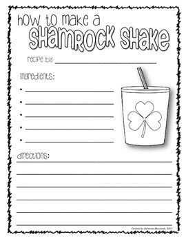 St. Patrick's Day Writing Packet