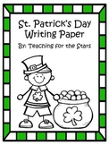 St. Patrick's Day Writing Paper