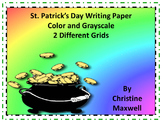 Free! St. Patrick's Day Writing Paper 2 Different Grids