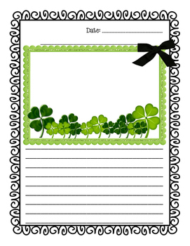 St. Patricks Day Writing Paper