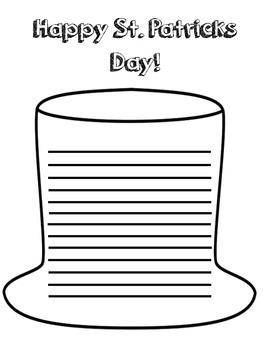 St. Patrick's Day Writing Paper - {Free}