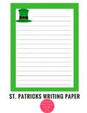 St. Patricks Day Writing Paper Stationary
