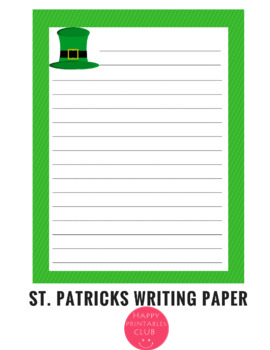 St. Patricks Day Writing Paper Stationary