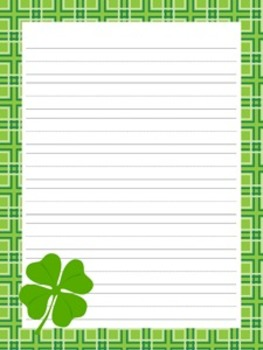 St Patrick's Day Writing Papers - 3 Styles - (7 1/2 x 10)