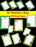 St. Patrick's Day Writing Papers - Personal & Commercial use