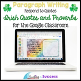 St Patricks Day Writing Paragraphs: Respond to Quotes for