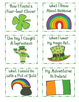 St. Patrick's Day Writing Prompt Cards