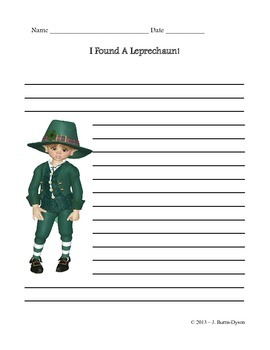St. Patrick's Day Writing Prompt Journaling Page - English and Spanish
