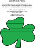 St. Patrick's Day Writing Prompt with text evidence and Li