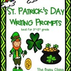 St. Patrick's Day Writing Prompts (3-5)