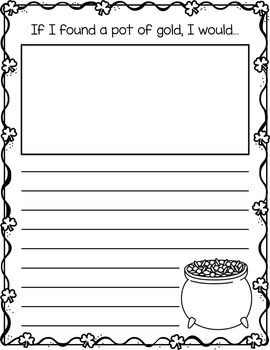St. Patrick's Day Writing Prompts PACK