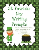 St Patrick's Day Writing Prompts with Graphic Organizers