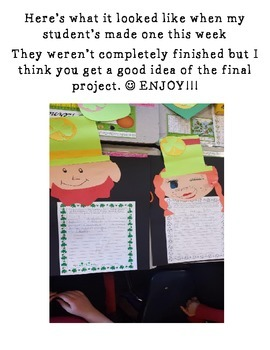 St. Patrick's Day Writing and Craftivity!!!